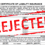 <b>Certificates of Insurance Bill Vetoed</b>